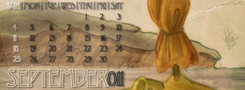 September 2011 //Mobile Wallpaper Calendar