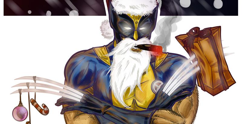 Santa Wolvie! //Sketches