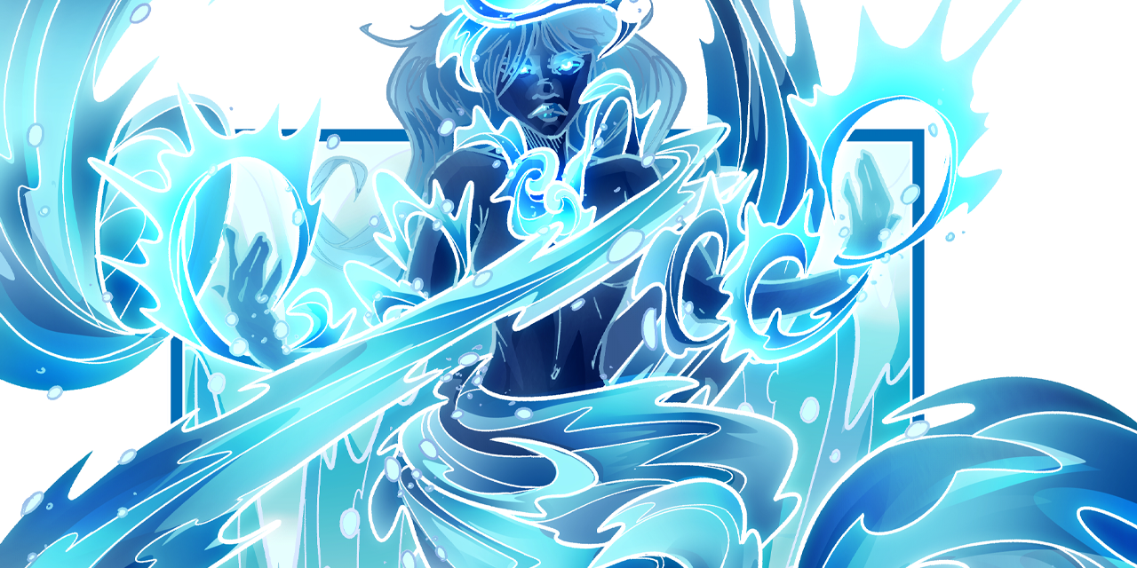 Inktober52 #16: Blue