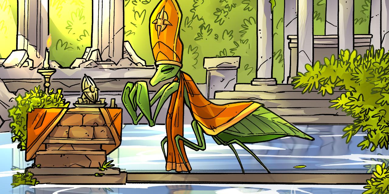 Inktober52 #19: Praying Mantis