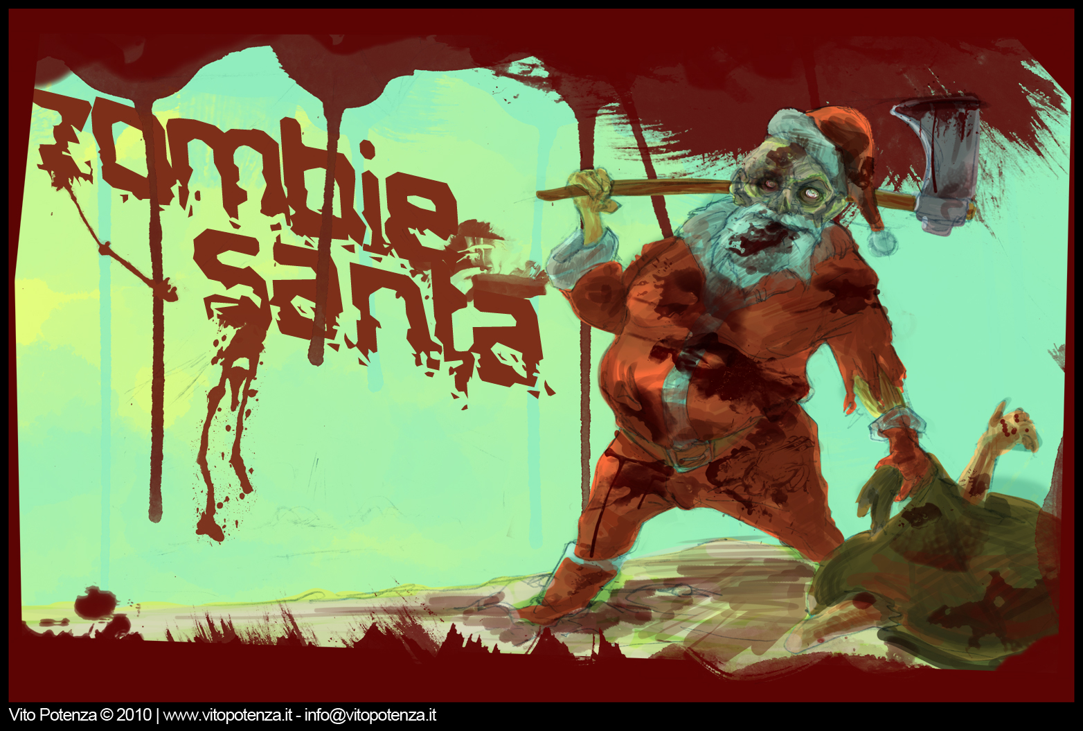 Zombie Santa //Sketches