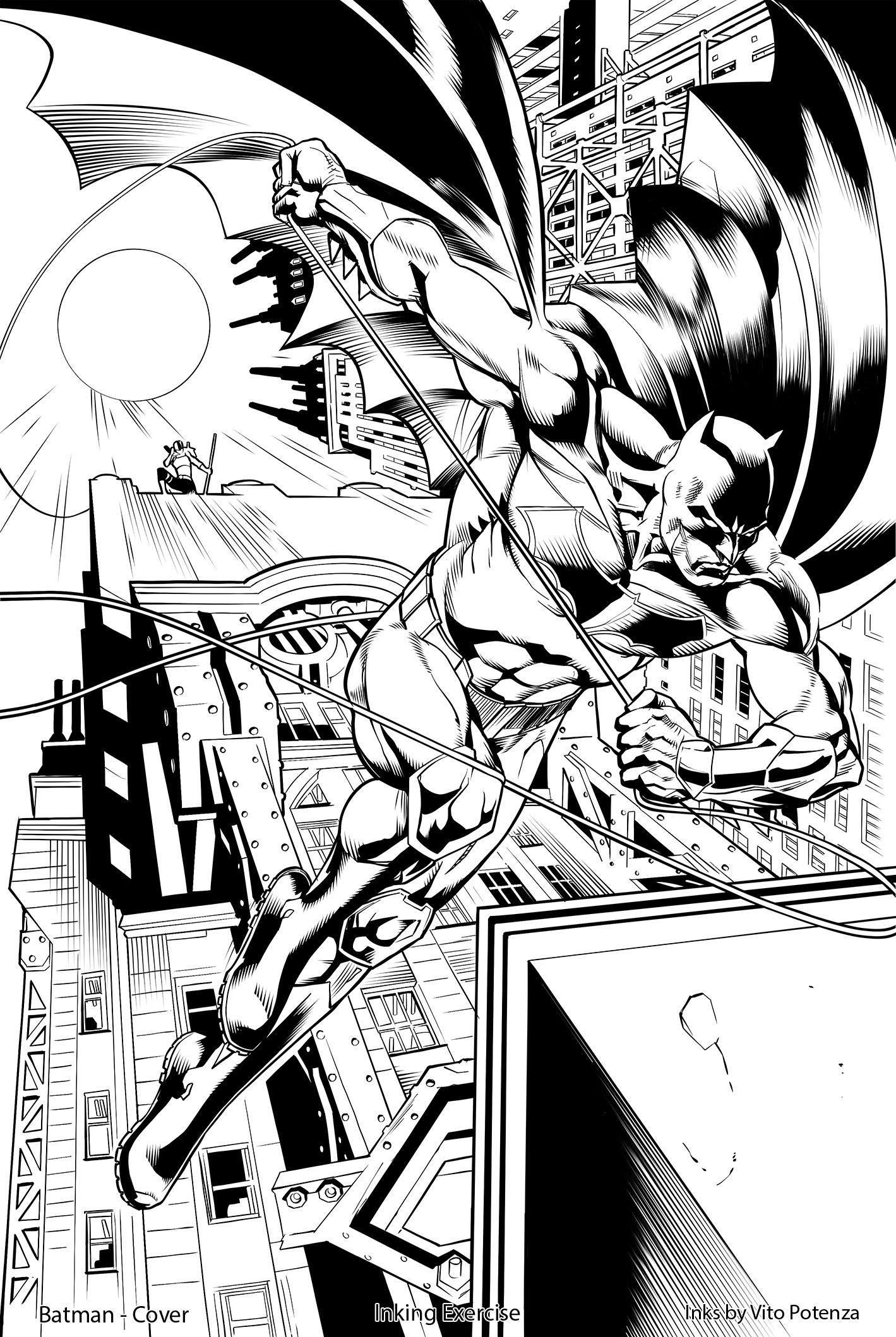 Batman, Cover – Inking Exercise