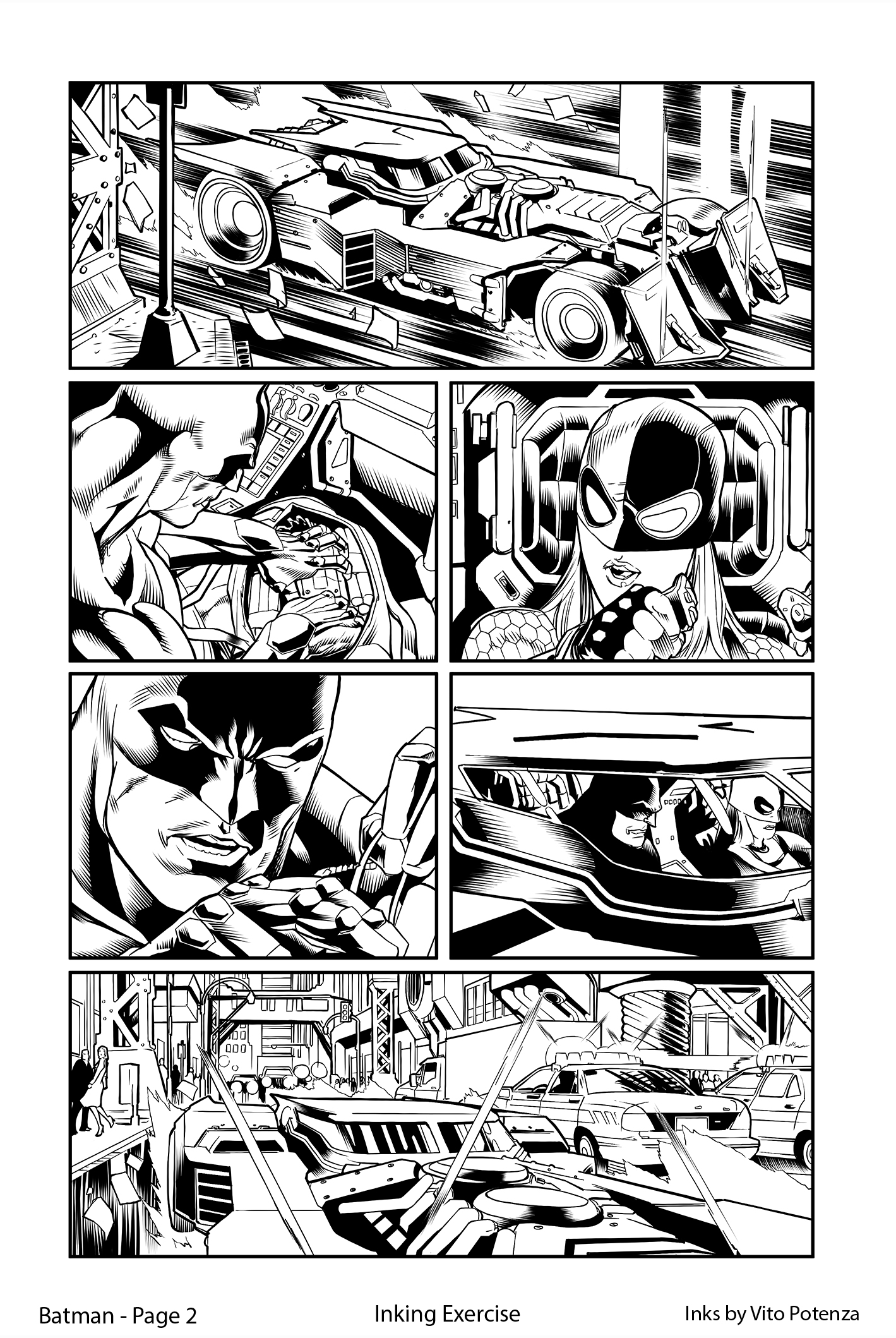 Batman, Page 2 – Inking Exercise