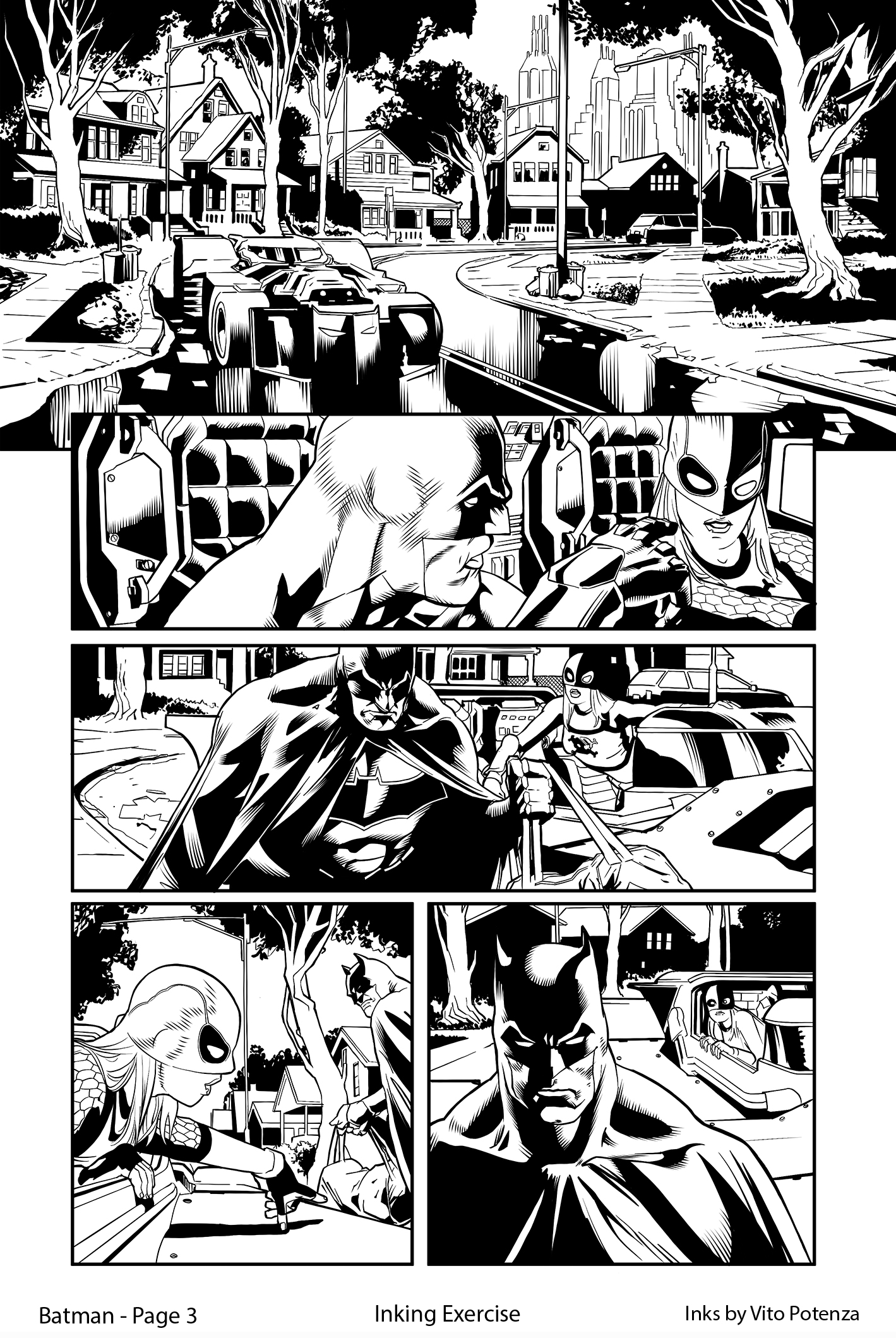 Batman, Page 3 – Inking Exercise