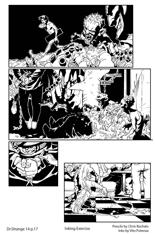 Dr.Strange #14, page 17 – Inking Exercise